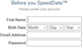 SpeedDate registration 2