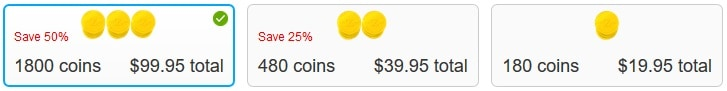 Zoosk Cost of Coins