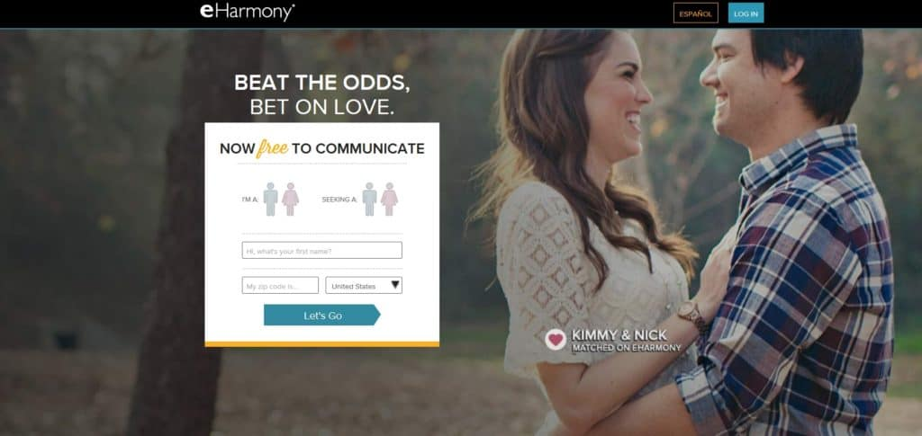 eharmony home page