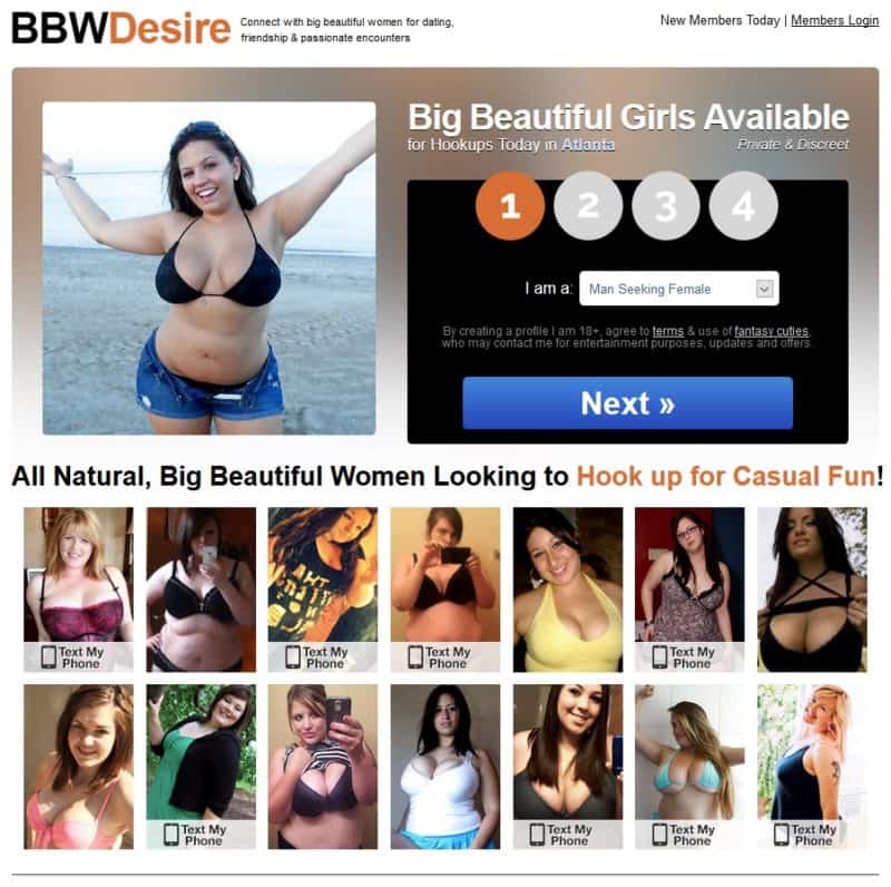BBWDesire homepage
