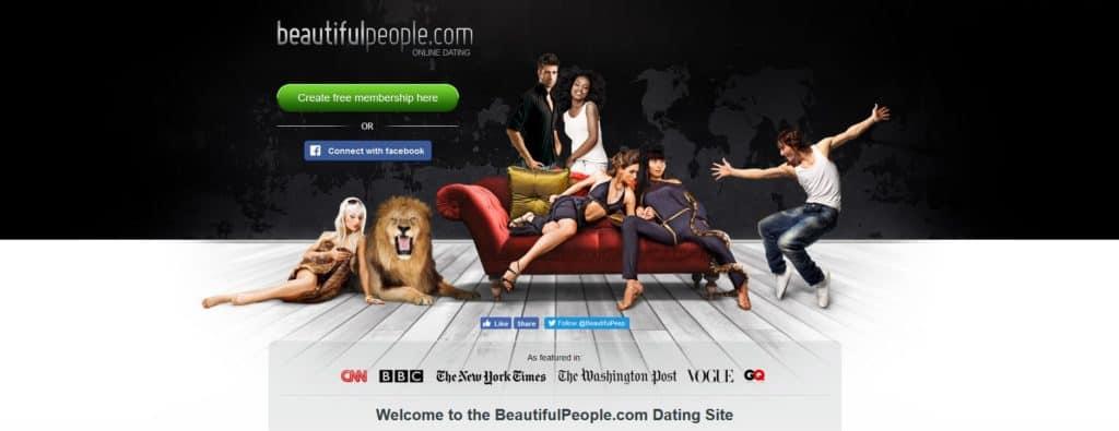 beautifulpeople.com homepage
