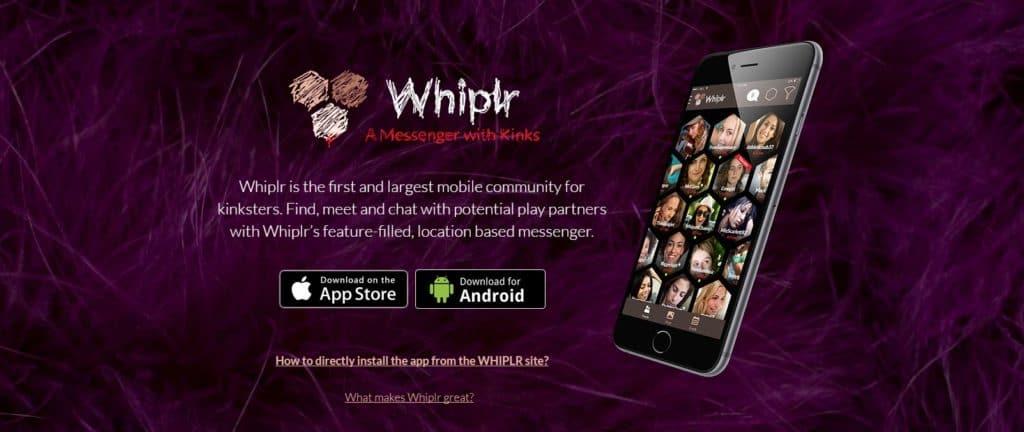 whiplr app homepage