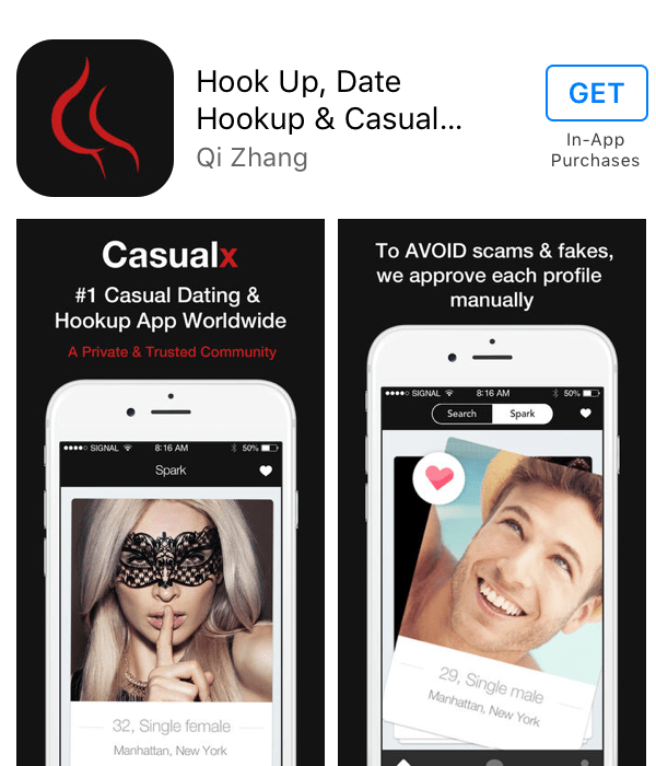 CasualX is a mobile-only app that is available for iPhone and Android  devices. On the iTunes App Store, it has a 4.5-star rating based on 540  reviews.