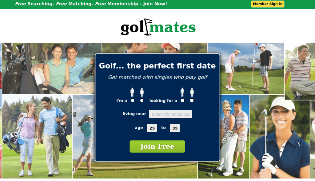 golf mates dating
