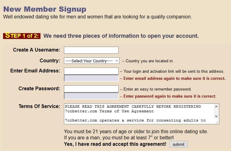 7orbetter Registration 2